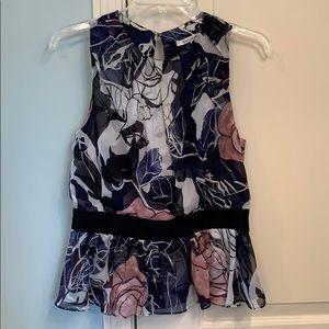 Diane Von Furstenberg Backless Silk Blouse